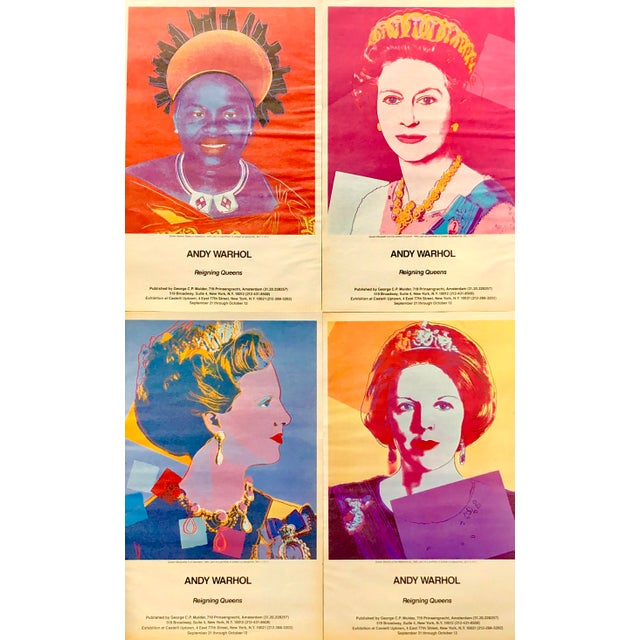 Vintage original advertisements for Warhol Queens at Leo Castelli gallery. Set of 4 individual pieces. Approximately 11x17...