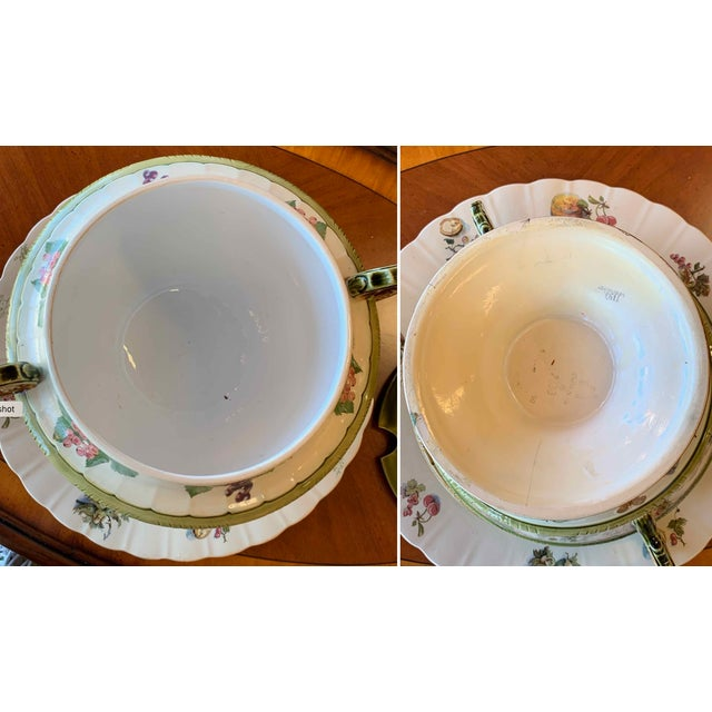 Antique Mettlach Covered Punch Bowl Wassail With Tray Circa 1890 For Sale In Tampa - Image 6 of 13