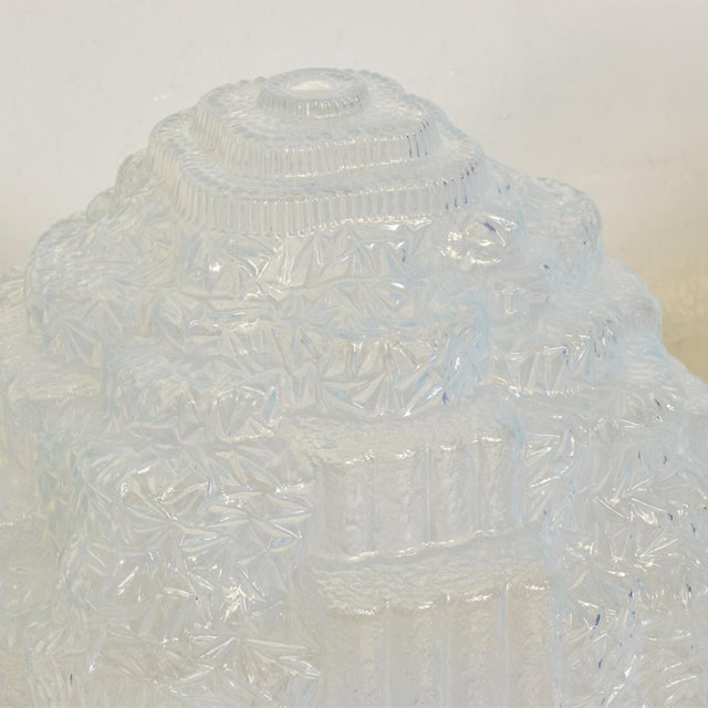 Rare Art Deco Light Blue Glass Shades , Set of Two For Sale - Image 10 of 11
