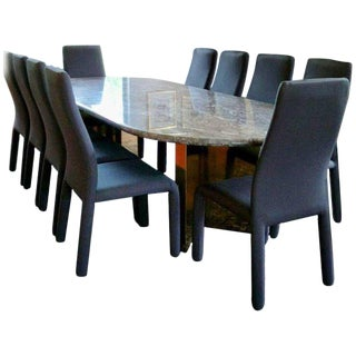 Contemporary Marble Dining Set For Sale