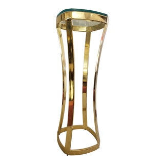 1970s Solid Brass Art Pedestal For Sale