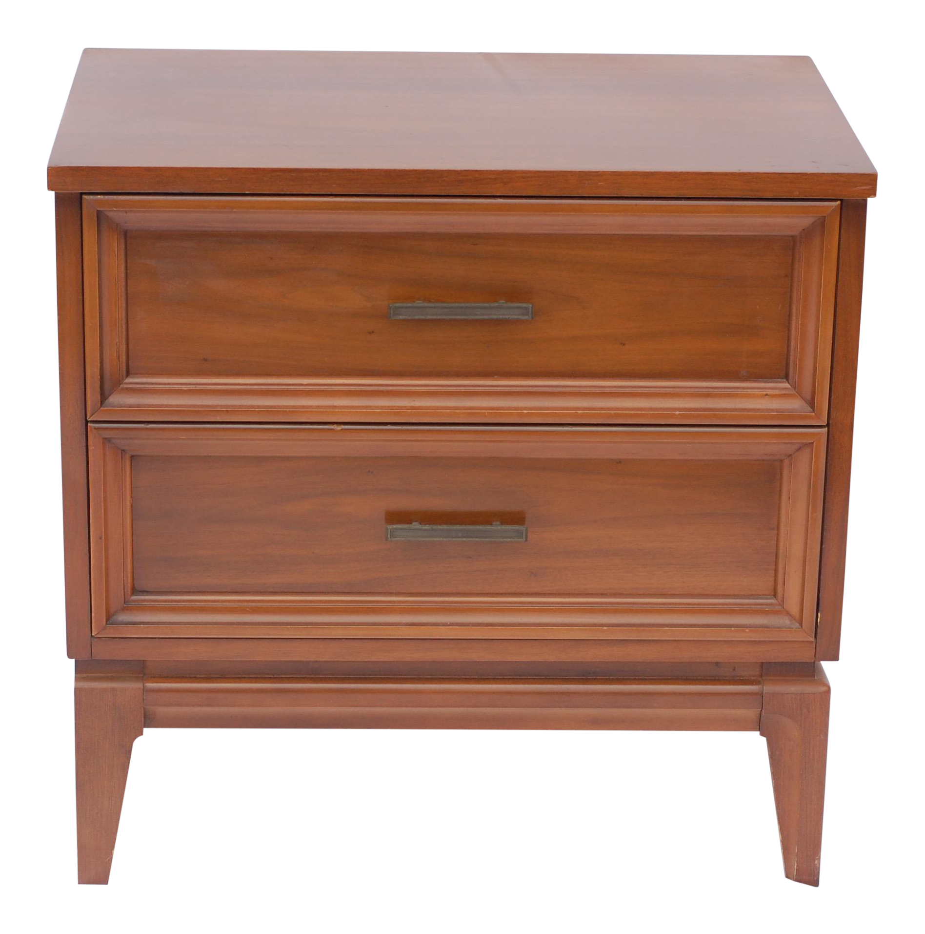 Ordinaire Mid Century Walnut Side Table By Dixie Furniture
