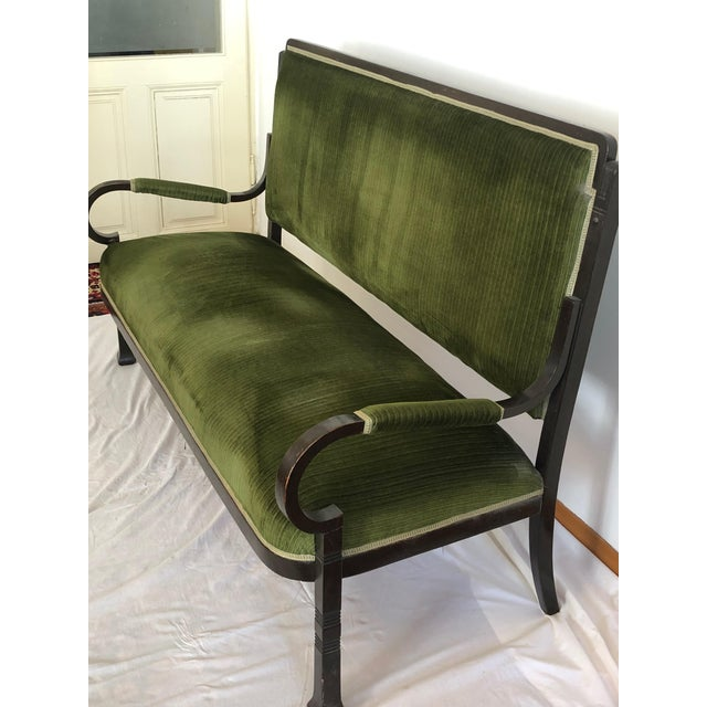 1900 - 1909 Very Rare Bentwood Salon Bench Nr. 14 by Thonet For Sale - Image 5 of 8