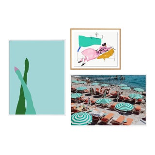 Milanese Summer Gallery Wall, Set of 3 For Sale
