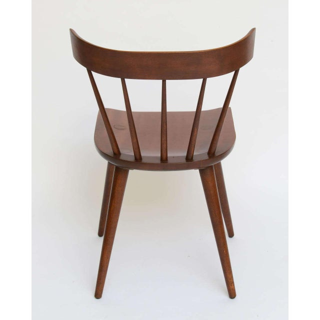 Single Paul McCobb Spindle Back Chair in Dark Maple - Image 5 of 9