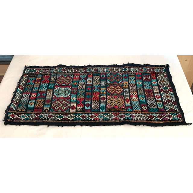 Mid 20th Century Mid 20th Century Vintage Woven Table Runner Rug- 3′4″ × 1′7″ For Sale - Image 5 of 9