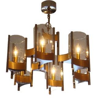 Vintage Schiolari Six Light Chandelier. For Sale