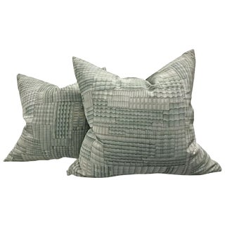 Mid-Century Modern Japanese Kimono Pillows - a Pair For Sale