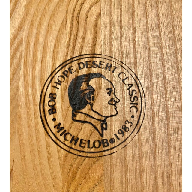 Excellent vintage charcuterie, snack board from the 1983 Bob Hope Desert Classic golf tournament. Little to no wear, some...