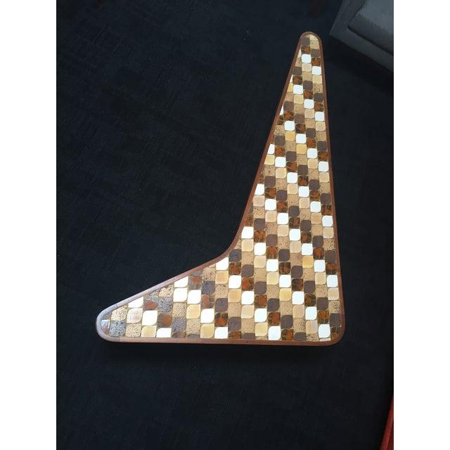 Richard Hohenberg Boomerang Mosaic Tile Table - Image 2 of 4