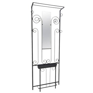 French Art Deco Wrought Iron Hall Tree For Sale
