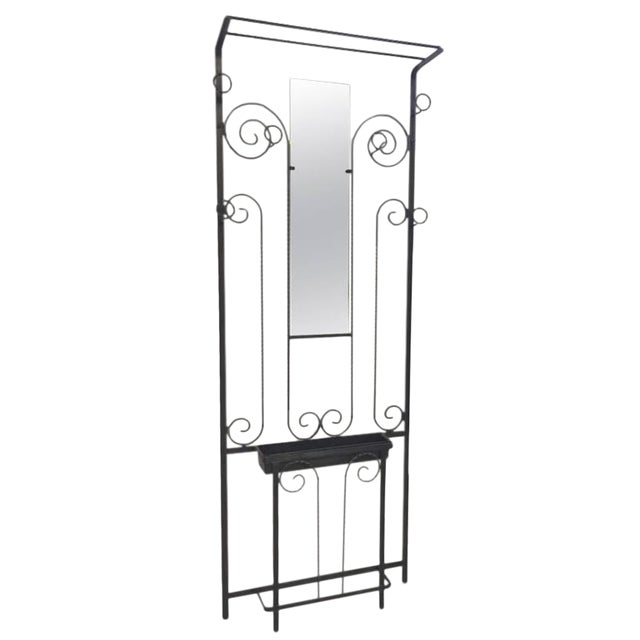 French Art Deco Wrought Iron Hall Tree - Image 1 of 4
