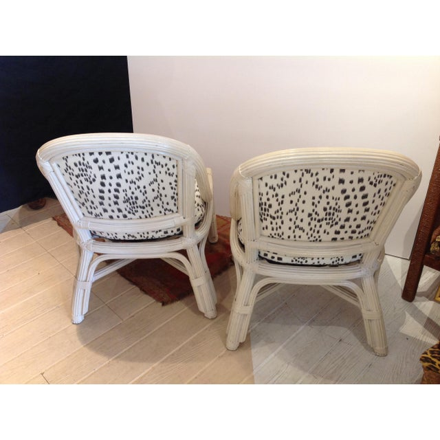 Henry Link Mid Century Henry Link Chairs With Brunschweig & Fils Upholstery - A Pair For Sale - Image 4 of 6