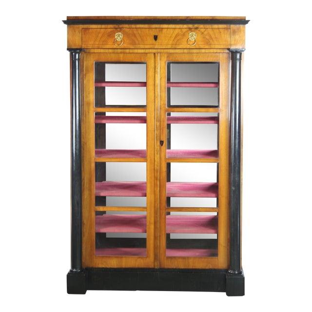 19th Century English Biedermier Bookcase For Sale