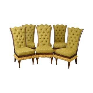 Lauren Brooks for Vanguard Tufted Dining Chairs - Set of 6 For Sale