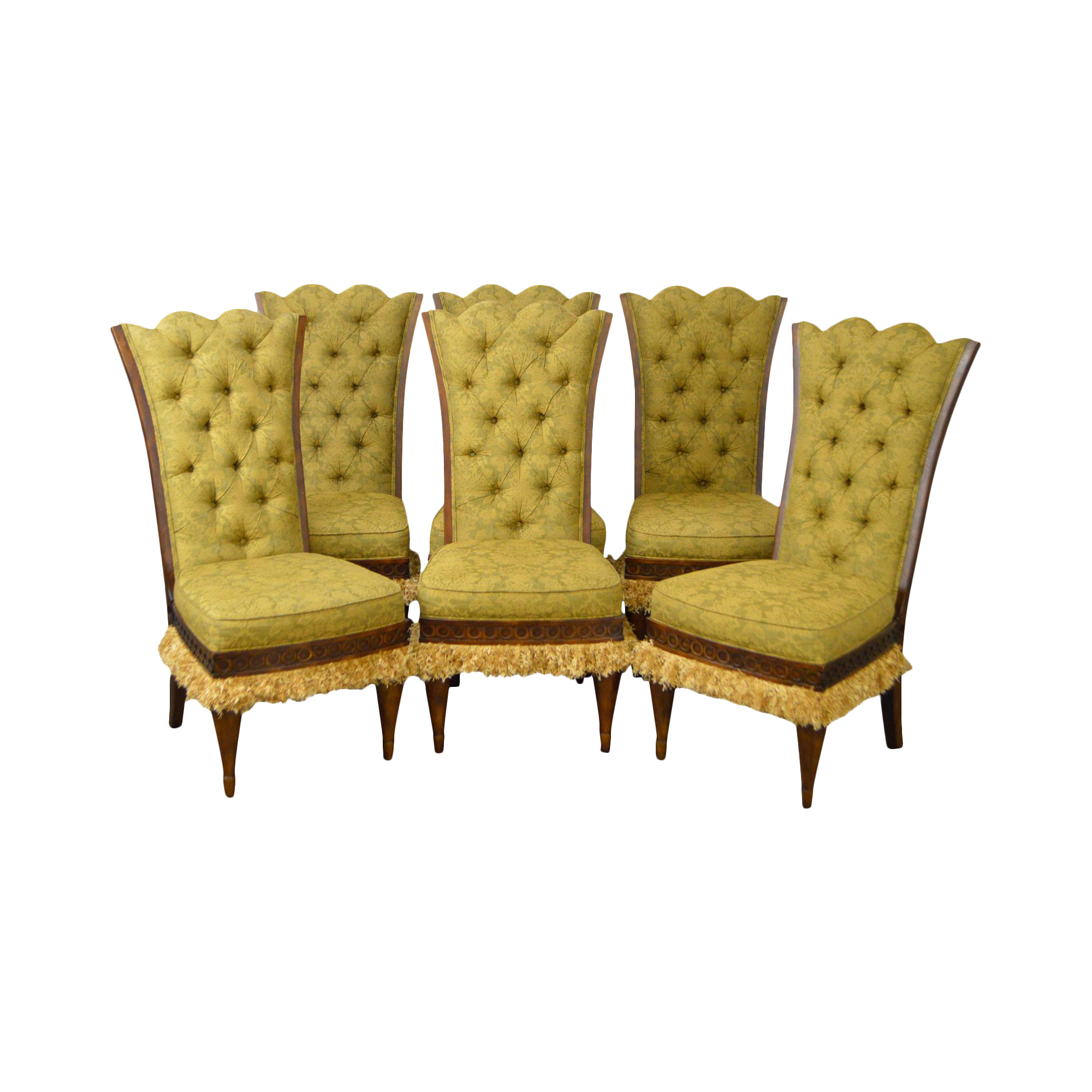 Bon Lauren Brooks For Vanguard Tufted Dining Chairs   Set Of 6