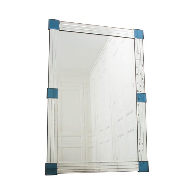 French 20th Century Art Deco Beveled Mirror For Sale - Image 12 of 12