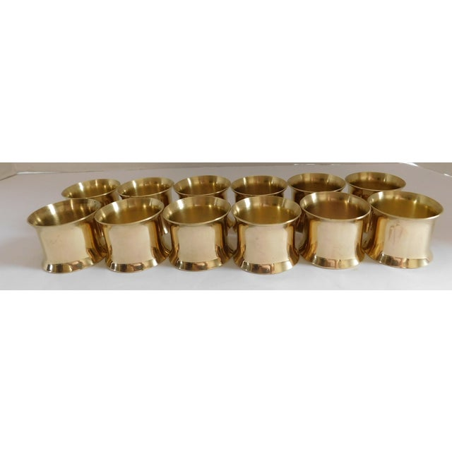 Brass Solid Brass Vintage Napkin Rings - Set of 12 For Sale - Image 7 of 13