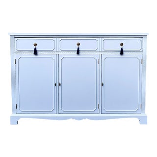 Vintage White Lacquered Buffet With Tassel Pulls For Sale
