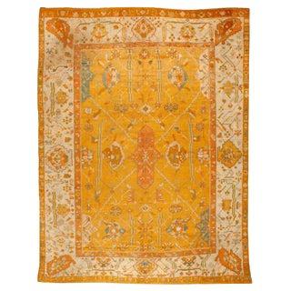 Antique Mid-19th Century Turkish Oushak Carpet For Sale