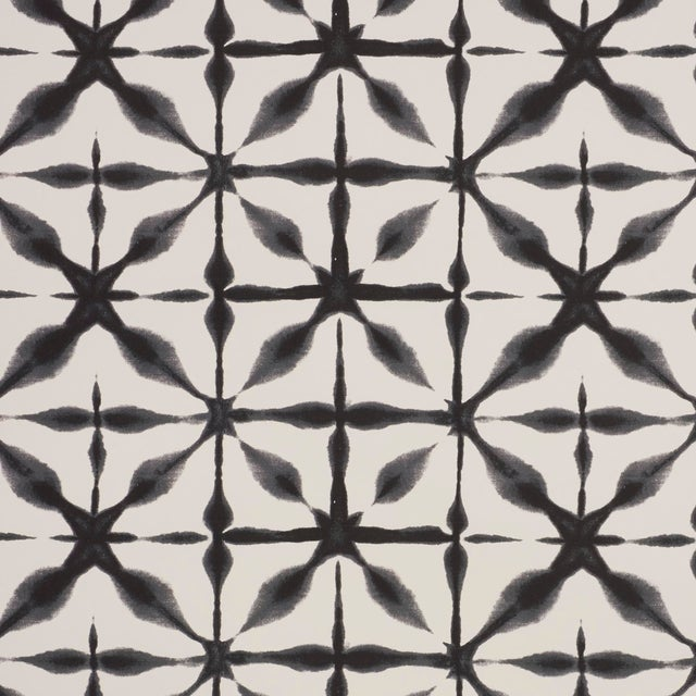 Schumacher Andromeda Wallpaper in Charcoal (8 Yards) For Sale