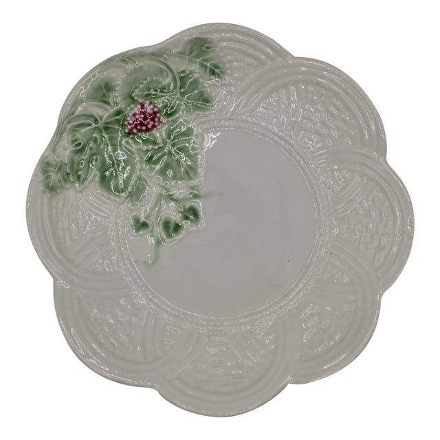 Vintage Italian Ceramic Strawberry Plate For Sale