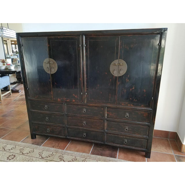 amazing black lacquer cabinets. Asian Black Lacquer Chinese Cabinet  Image 2 of 8 Chairish