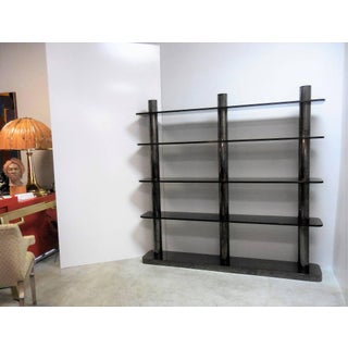 Karl Springer Bronze and Glass Bookcase Wall Unit, 1975 Preview