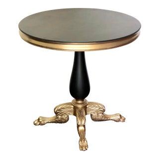 Vintage Regency Style Carved Leg Side Table For Sale