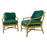 Image of Vintage Pair of McGuire Armchairs For Sale