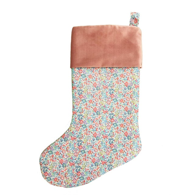 Not Yet Made - Made To Order Liberty of London Emma and Georgina Christmas Stocking with Velvet Cuff For Sale - Image 5 of 5