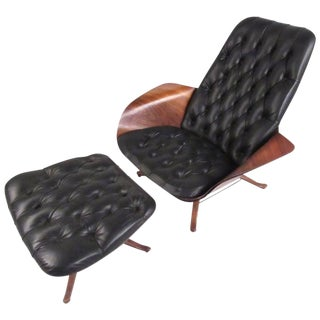 Early George Mulhauser Swivel Lounge Chair For Sale
