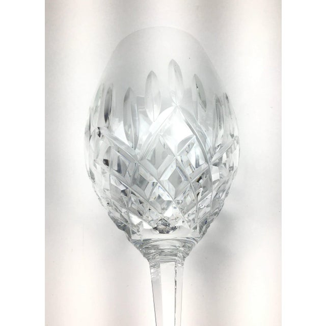 1980s Cut Crystal Heavy Water Glasses - Set of 4 For Sale - Image 5 of 10