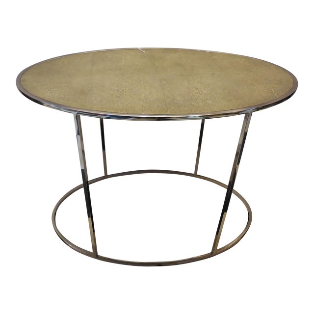 Theodore Alexander Oval Shagreen Top Table For Sale