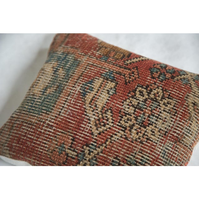 Old New House Original and exclusive handmade pillow featuring reclaimed hard-to-come-by unique vintage Heriz Persian rug...