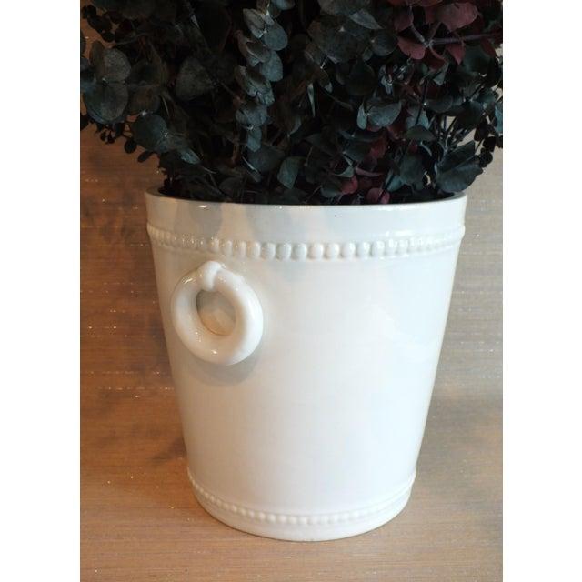 Vintage Bassanello White Italian Planter Cache Pot For Sale - Image 4 of 7