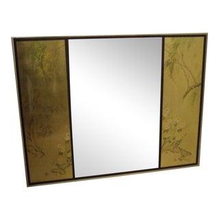 La Barge Hand Painted Gold Leaf Design Mirror