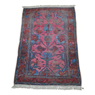 Persian Style Floral Design Rug - 4′ × 6′