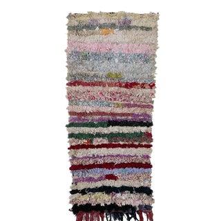 "Moroccan Boucherouite Carpet - 5'4""x2'5"""