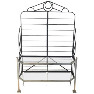 French Chrome and Glass Bakers Rack For Sale