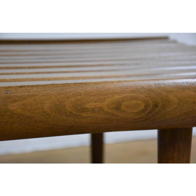 Mid-Century Modern Slatted Bench - Image 7 of 7