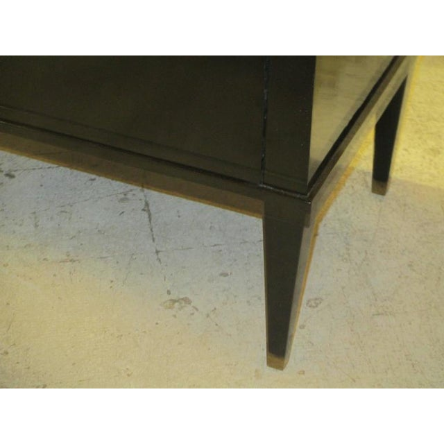 French Custom Ebonized Louis XVI Style Chest/Commode on Tapered Legs For Sale - Image 3 of 6
