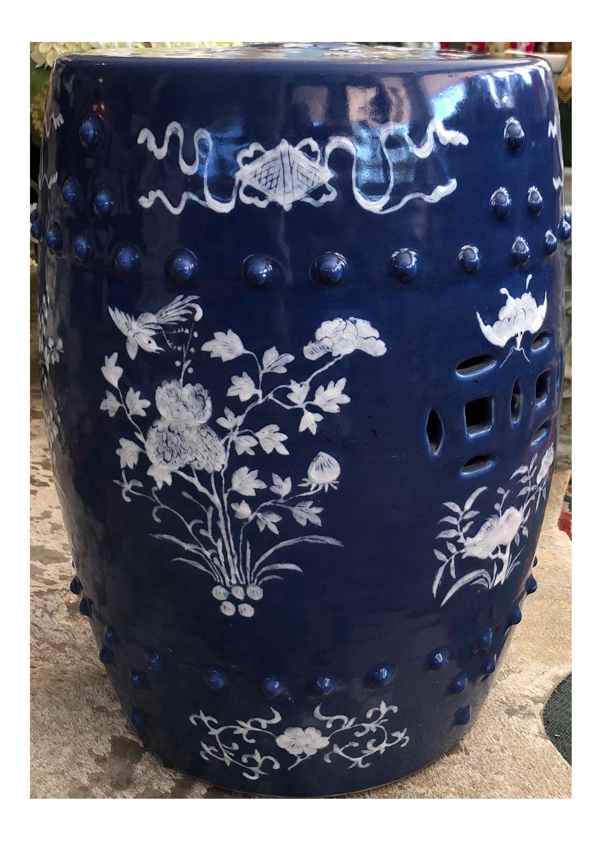 Antique Hand Painted Asian Garden Stool