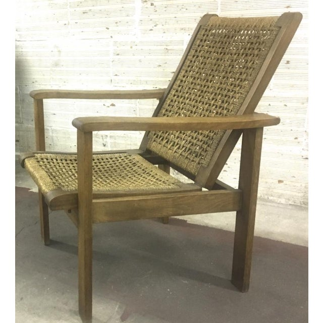 French Riviera Style Pair of Reclining Rope Lounge Chair For Sale - Image 4 of 8