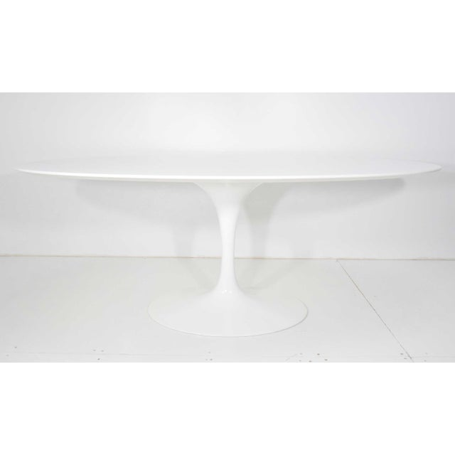 2000s Eero Saarinen for Knoll Oval Tulip Table For Sale - Image 5 of 9