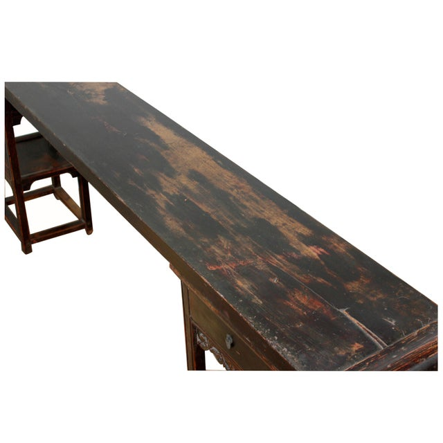 Antique Sarreid LTD Chinese Ming Style Console Table - Image 4 of 4