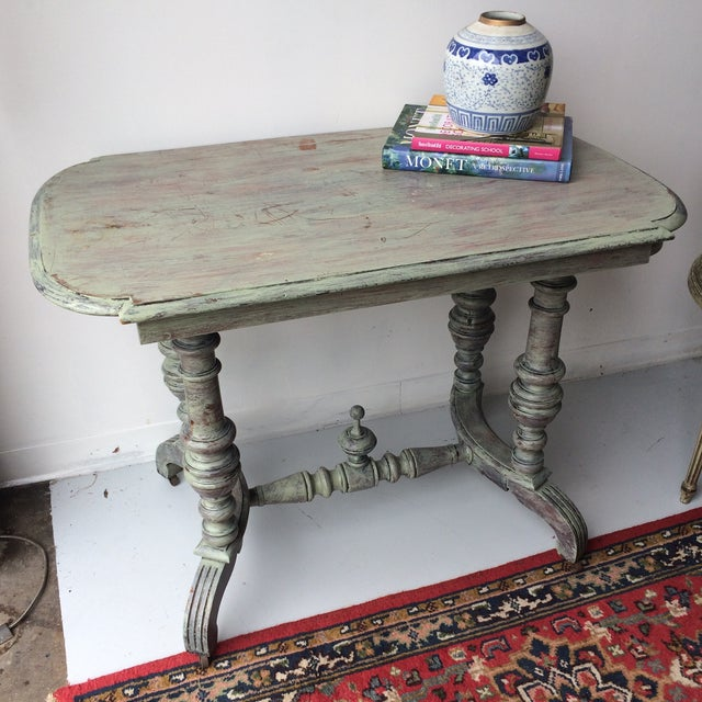 Gray Shabby Chic Gray Breakfast Table For Sale - Image 8 of 8