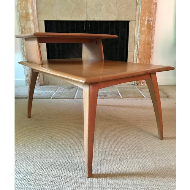 Heywood-Wakefield Mid Century Side Table Heywood Wakefield For Sale - Image 4 of 9
