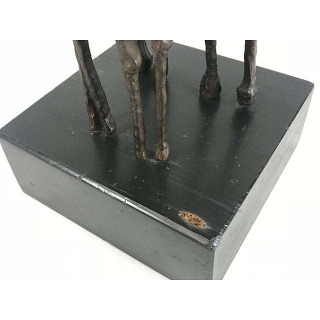 "1969 Abstract Curtis Jere Bronze Brutalist ""Horses"" Sculpture For Sale - Image 12 of 13"