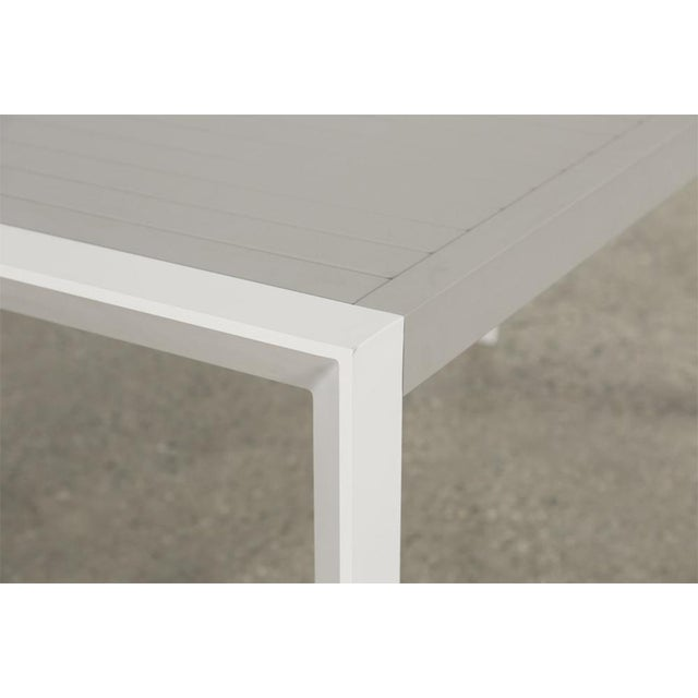 Contemporary Minimal Outdoor Dining Table For Sale - Image 3 of 5